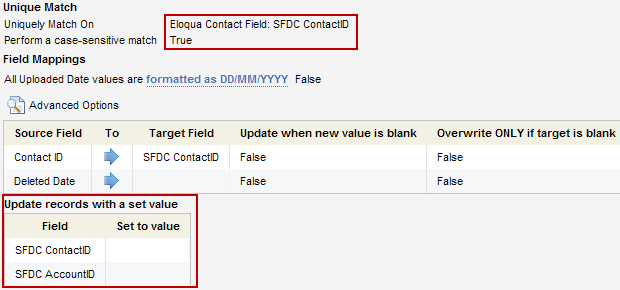 Eloqua SFDC Deleted Contacts