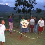 A jump rope made from the summer's tall grass occupies the hostel girls until dark