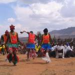 Ntlamu dancers at the farewell feast