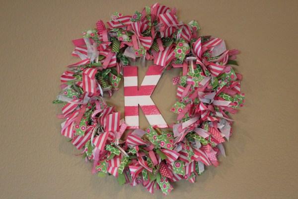 Diy Ribbon Wreath Gilbertson Family
