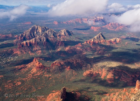 Sedona, Arizona, area from the Flying Carpet