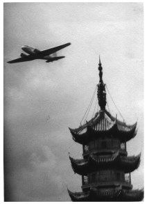 DC-2 over Lunghwa Pagoda, 1935