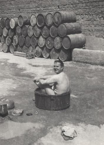 Unidentified CNAC taking a quick bath