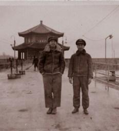 Bing Zhou and a friend, late 1940s