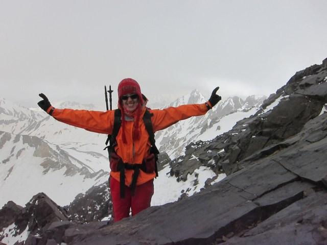 Mahsa Hokamzadeh high on Alam Kuh