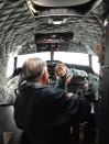 Moon Chin in the cockpit of the HFF's DC-3