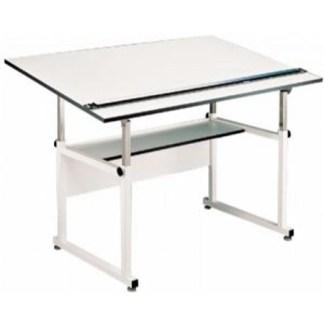 """ALVIN® WORKMASTER W/ 37.5"""" x 60"""" Top White BASE"""
