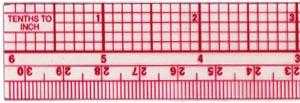 """Ruler, 6"""" 10ths/Metric Beveled Ruler B-55"""