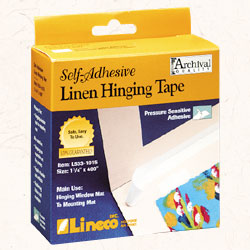 Tape, Self-Adhesive Linen - White