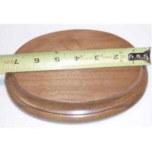 """Base Oval Walnut 8 x 10 x 3/4"""""""