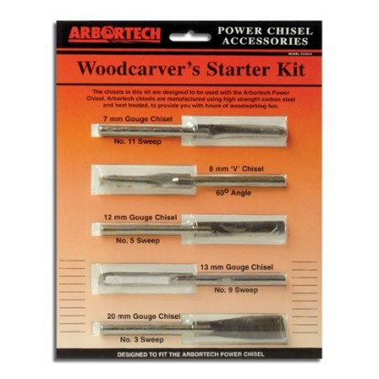Arbortech Power Carving Chisel 5 ps. Set