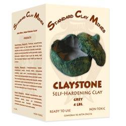 Claystone Self-Hardening Clay - 4 lbs. - Grey