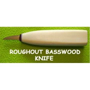 Helvie Knife, The Basswood handle Roughout Knife