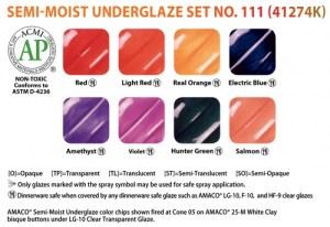 Semi-Moist Underglaze Decorating Colors