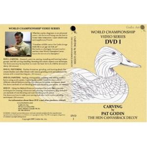 DVD - Pat Godin, Hen Canvasback Carving #1
