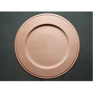 "Plate Basswood, Outside Beaded Rim, 12"""