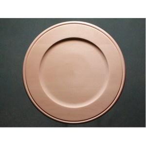 "Plate Basswood, Outside Beaded Rim, 14"""