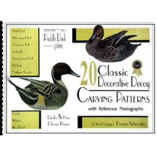 20 Classic Decorative Decoy Carving Patterns by Dennis Schroeder