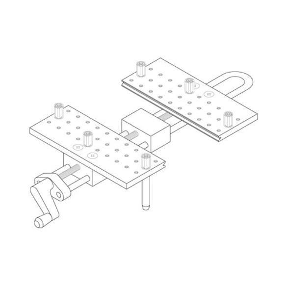 Large Peg Vise w/holes - Attachment only, no work Positioner included.