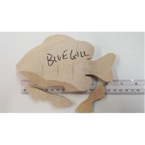Blue Gill Fish - Josh Guge cutout tupelo