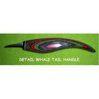 "Helvie Knife, Detail whale, 3/8"" x 1 1/4"""
