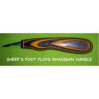 """Helvie Knife, Detail Sheep's Foot, Rhadigan 1/2"""" Edge"""
