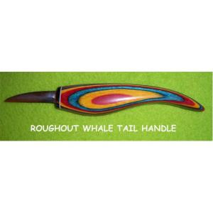 """Helvie Knife, Roughout Whale Tail 1/2"""" x 1 3/4"""""""