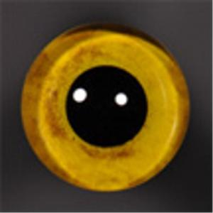 ON WIRE EYES - OWL Saw-Whet stippled 10 mm lg pupil Brite-yellow
