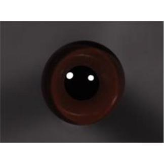 Tohickon Glass Eyes Off-Wire #112 - 10mm Dk. Brown M/P