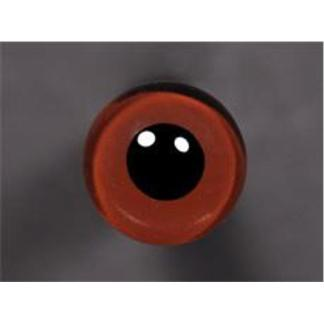 Tohickon Glass Eyes Off-Wire #112 -14mm Med.Brown M/P