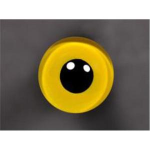 ON WIRE EYES - OWL Saw-Whet stippled 13 mm lg pupil Brite-yellow
