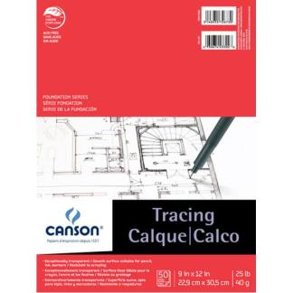 Canson FOUNDATION TRACING TAPE BOUND 25LB 9X12