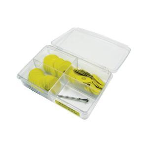 YELLOW SANDING DISKS Disc Assortment 100 ps. includes mandrel
