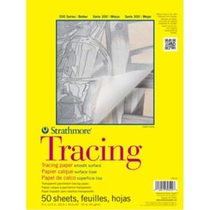 Strathmore 300 TRACING PARCHMENT  PAD 25LB 50 SHEETS 11X14