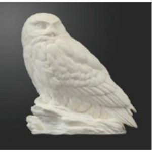 Owl, Snowy Resin cast  Jerry Simchuk