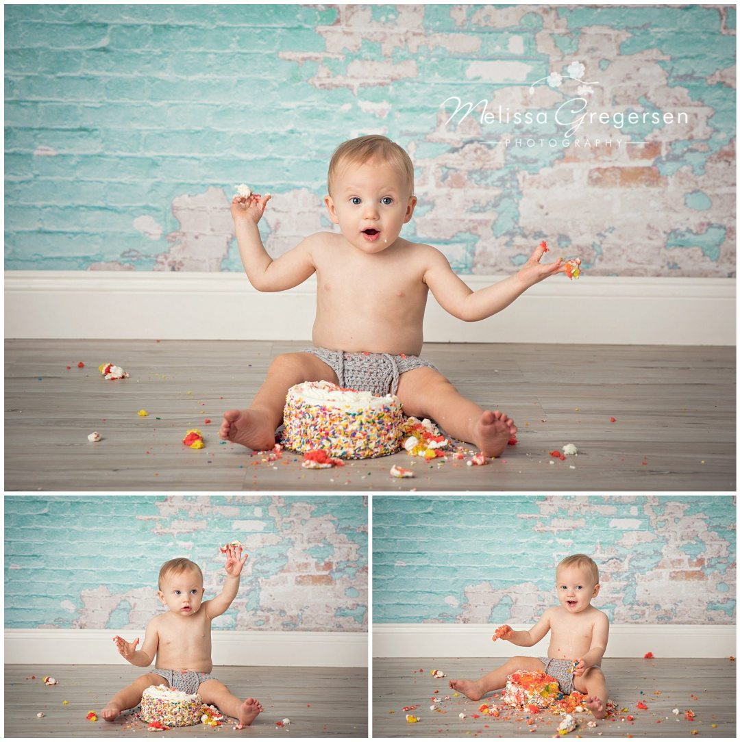 What to Expect During Your Baby's Cake Smash Session :: Kalamazoo Baby Photographer - Gregersen Photography