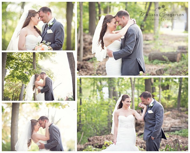 Walking through the wood at Bay Pointe Inn on Gun Lake photographed by Melissa Gregersen Photography