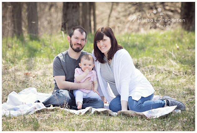 Mom Dad and baby girl photography