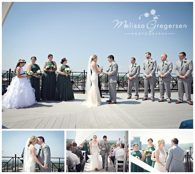 Rooftop setting for the I-do's on a picture perfect summer day in Michigan