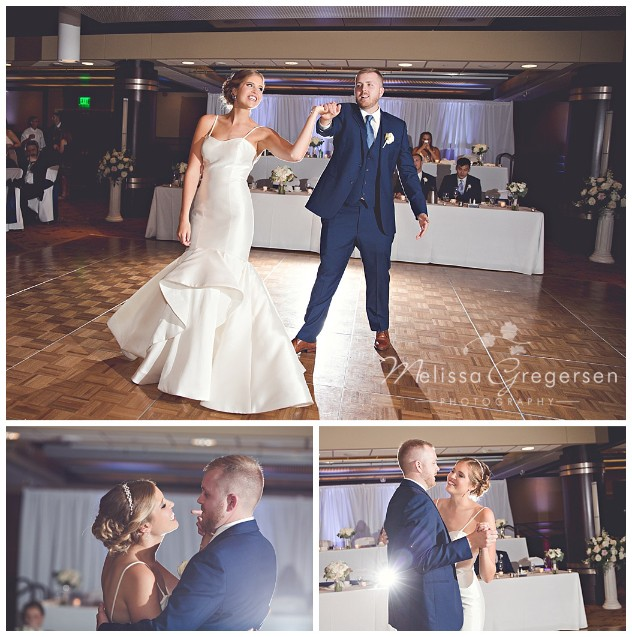 Fun on the dance floor during the bride and groom's first dance.