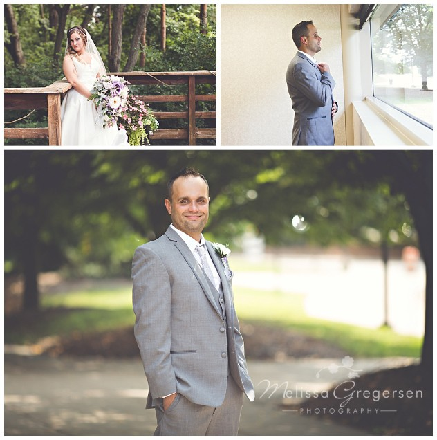 Bride and Groom portraits at the Fetzer Center