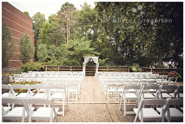 Lovely outdoor ceremony site at the Fetzer Center