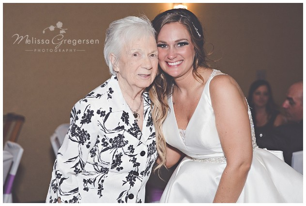 Photo op with grandma and the bride is one for the album!