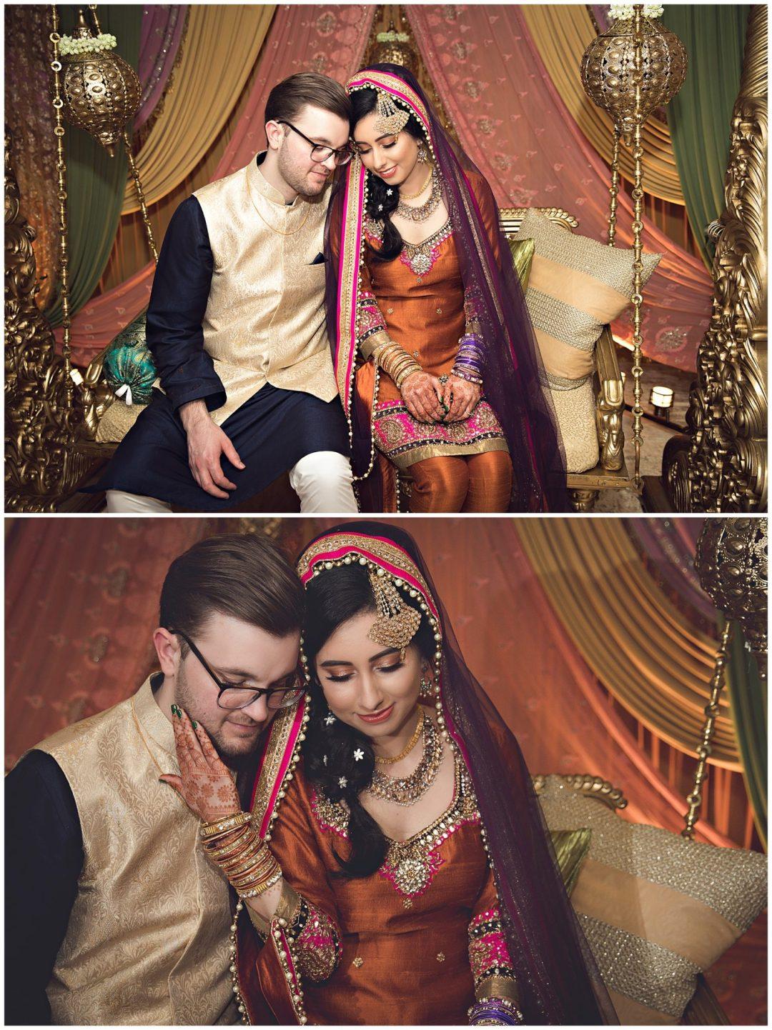 Bride and Groom at Mehndi Radisson in Kalamazoo MI