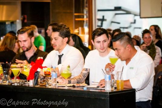 Suntory judges sampling the competition cocktails.