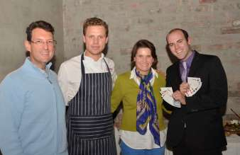 With Brian Berkman, Head Chef of Brasserie, Precious, and I