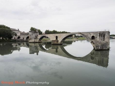 View of Pont Saint-Bénézet (aka Pont d'Avignon)