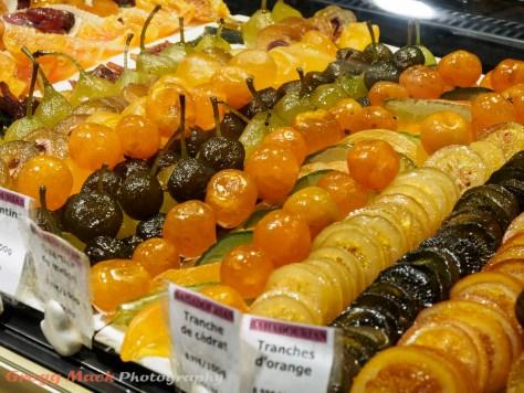 Les Halles de Lyon Paul Bocuse food market in Lyon, France.