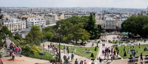 View of Paris from the base of  Sacré-Cœur Basilica