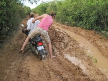 Jumping in Mud Barefoot